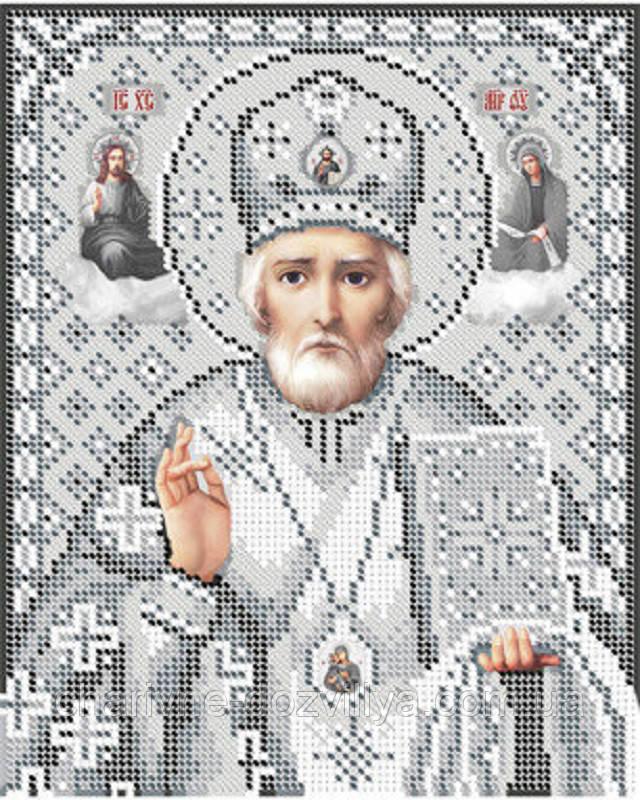 """Схема для вышивки бисером икона """"Святой Николай Чудотворец"""""""