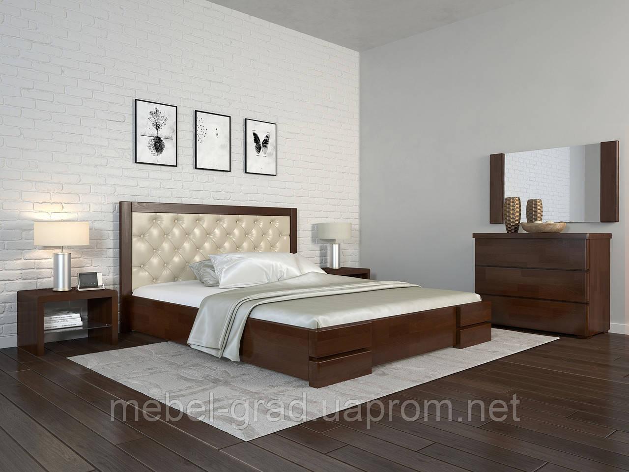 Кровать с механизмом Arbordrev Регина люкс ромбы (180*190) бук