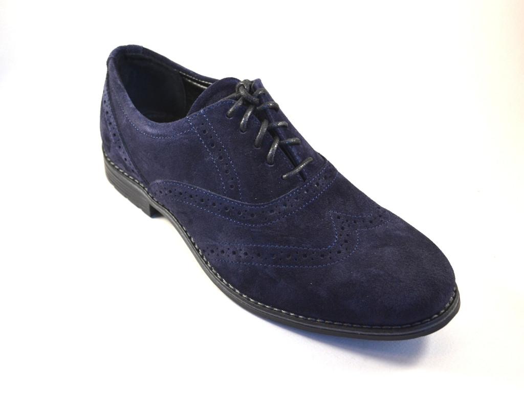 Большой размер туфли мужские замшевые броги Rosso Avangard BS Felicete Uomo Blu Vel синие