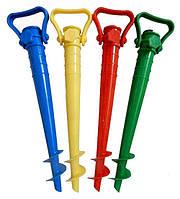 Подставка для пляжных зонтов (держатель для зонтиков, бур)(39 см D 2.5 см))