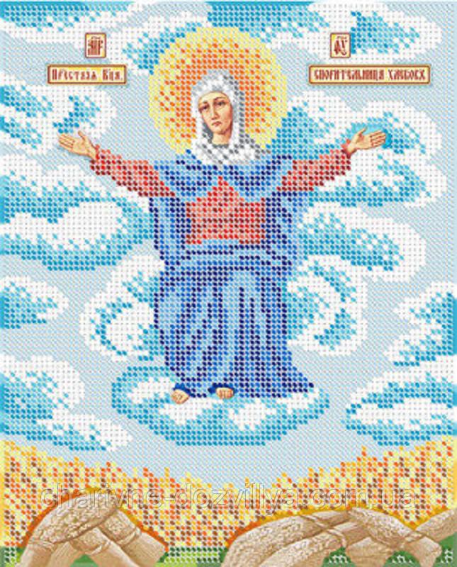 """Схема для вышивки бисером икона """"Богородица Спорительница Хлебов"""""""
