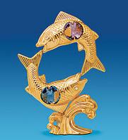 Фигурка с кристаллами Сваровски Рыбы 10,5 см AR -4192