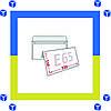 Конверты Е65 (DL) 75 грм (110х220) скл, бел. (0+0)
