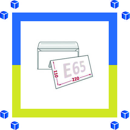 Конверты Е65 (DL) 75 грм (110х220) скл, бел. (0+0), фото 2