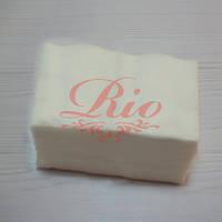 """Серветки одноразові ТМ """"Rio"""" 7х10см гладкі, нарізні 100шт"""