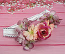 Детская повязочка-резинка с цветами , фото 2