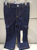 Брюки-карго Детские джинсовые,тёмно-синие