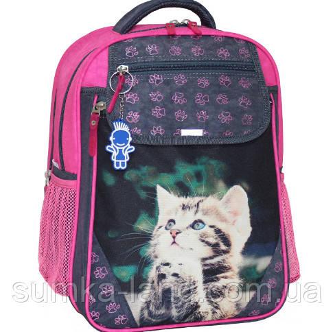 794b8875533e Детский школьный рюкзак для девочки Bagland Отличник с ортопедической  спинкой (принт серый 21 Д)
