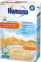 Каша Humana молочна 5 злаків з печивом, 200г
