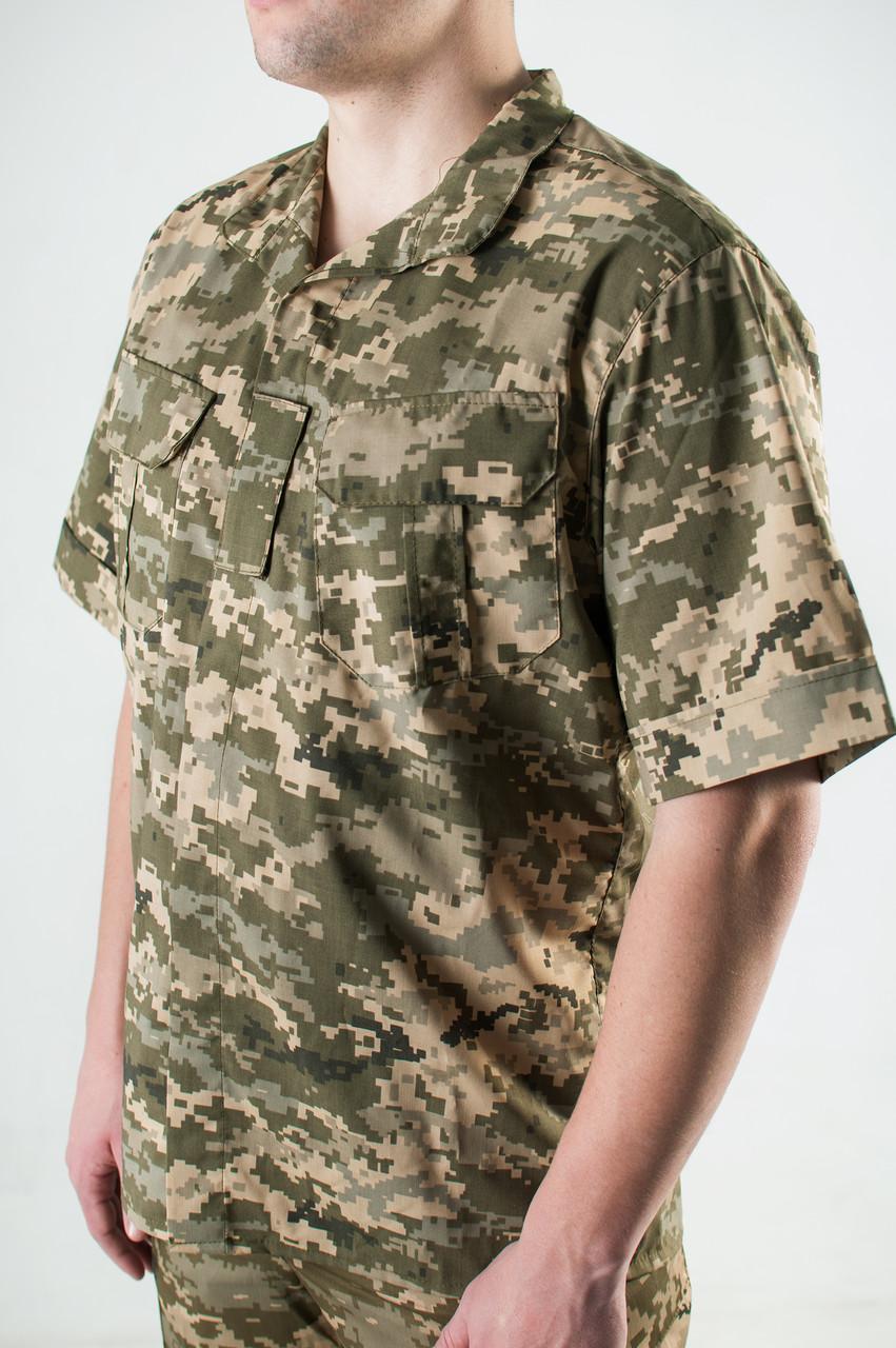 Рубашка Военная Пиксель из Рубашечной Ткани