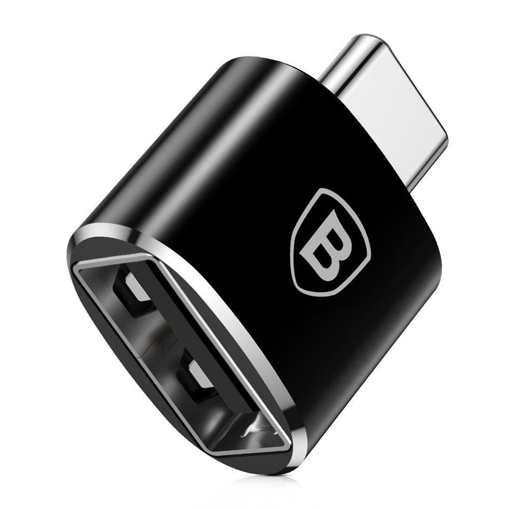 OTG переходник Baseus Female USB to Type-C Male 2,4A (CATOTG-01) Black