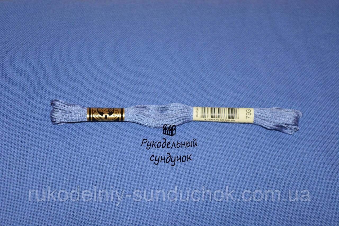 Равномерная ткань - синяя (Украина)