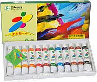 Краски акриловые набор 12 цв. 12 мл. YRE \ 52.48