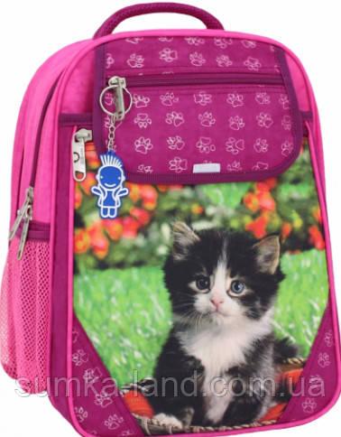 Детский школьный рюкзак для девочки Bagland Отличник с ортопедической спинкой (принт малина 59 д) 20 л