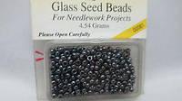 Бисер Mill Hill 00081, 11/0 Jet Glass Seed Beads