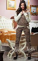 Спортивный костюм женский велюровый Леопард с.м.л Отличное качество