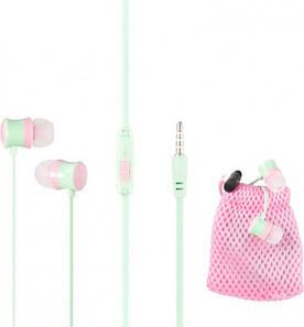 Гарнитура для телефона Keeka MC92 с микрофоном и кнопкой ответа, Carry Bag Розовая