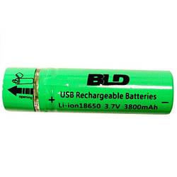 Аккумулятор 18650 Li-ion 4.2v BLD USB18650 3800mah c USB зарядкой