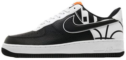 a38fe359 Nike Air Force 1 07 LV8 Black White | мужские кроссовки; кожаные; черно-