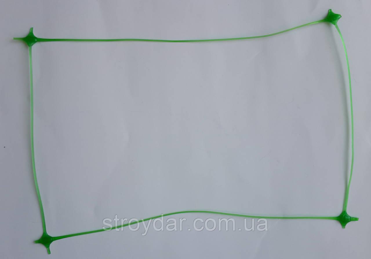 Шпалерна огіркова сітка Конюшина Ш 130 зелена 1,7*10 м