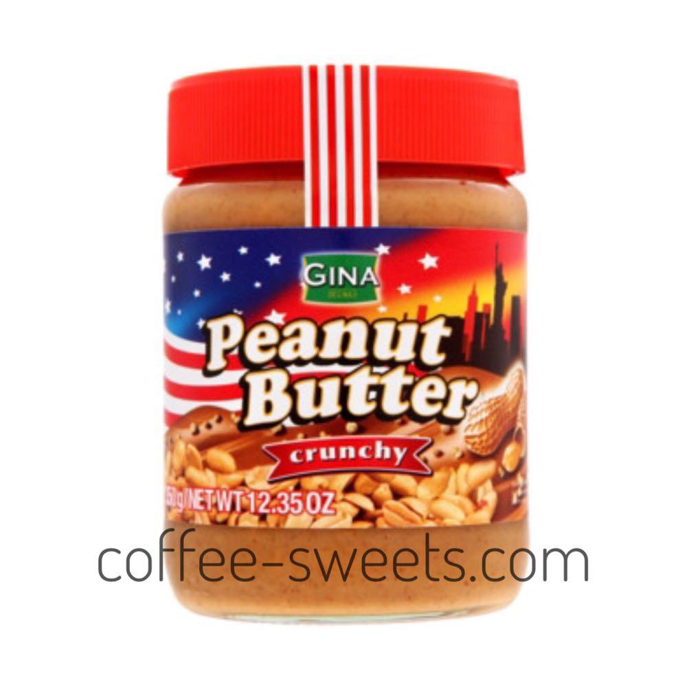 """Арахисовая паста """"Gina Peanut Butter"""" Сrunchy 350g"""