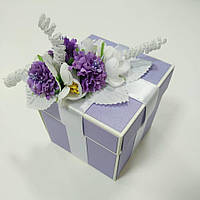 Коробочка для подарка на свадьбу цвета лаванды