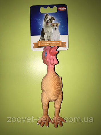 Игрушка для собакКурица Маленькая со звуком Н 79465, фото 2