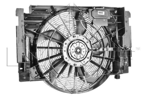 Вентилятор в сборе на BMW X5 E53 (00-06) (NRF) , фото 2