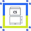 Конверты С5 (162х229) скл, белый (0+0)