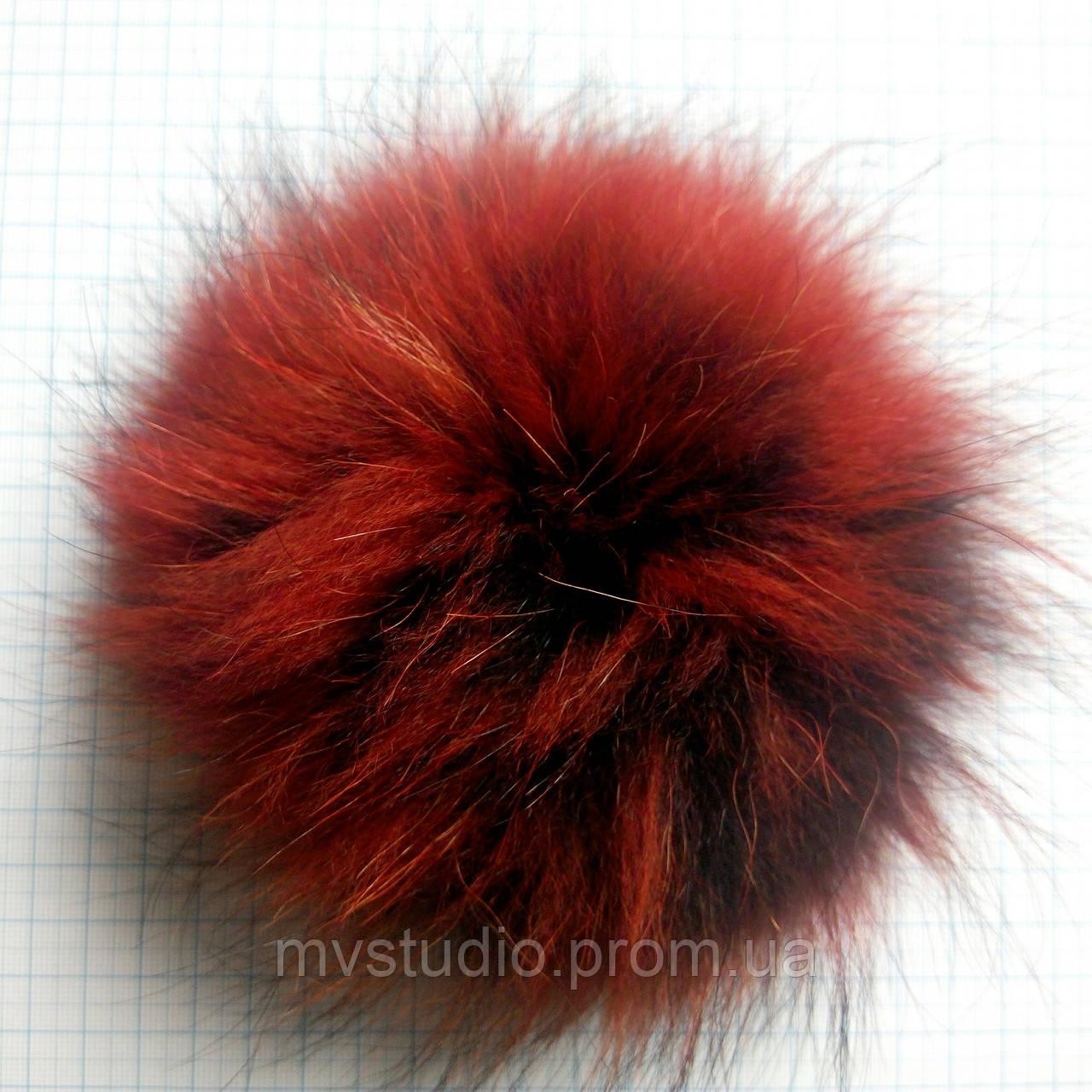 Помпон из натурального меха енота - 18 см