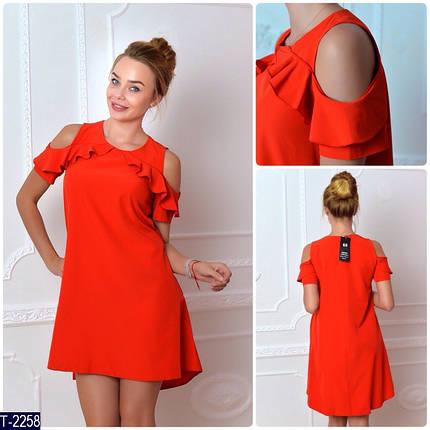 Красное платье с воланами, фото 2
