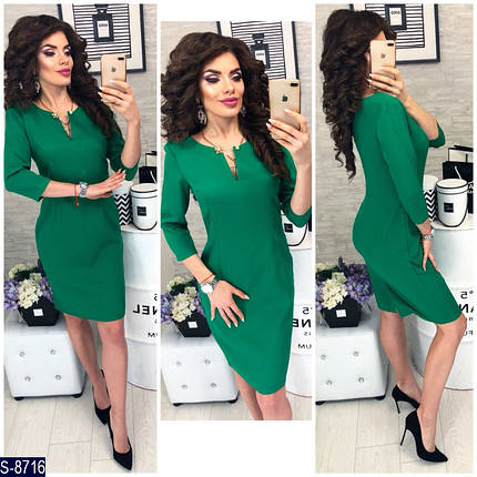 Классическое зеленое платье, фото 2