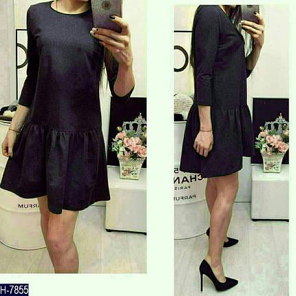 Черное платье с воланом внизу, фото 2