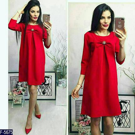 Красное платье с бантом, фото 2