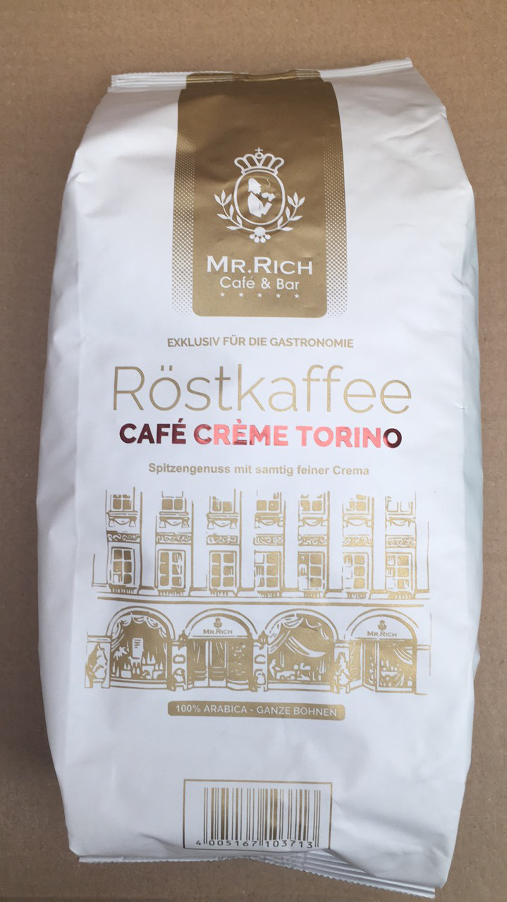 Кофе Mr. Rich Rostkaffee Cafe Creme Torino 100% арабика в зернах 1 кг