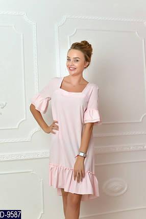 Свободное платье с воланом внизу, фото 2