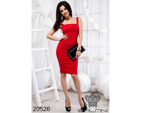 Красное приталенное платье, фото 2