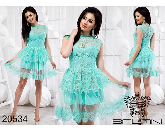 Платье Мятное код 20534, фото 2
