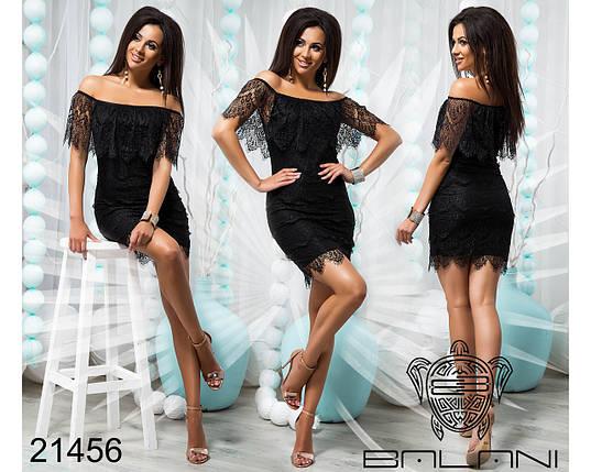 Платье Черное код 21456, фото 2