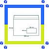 Конверты С5 (162х229) окно, скл, бел. (0+0)