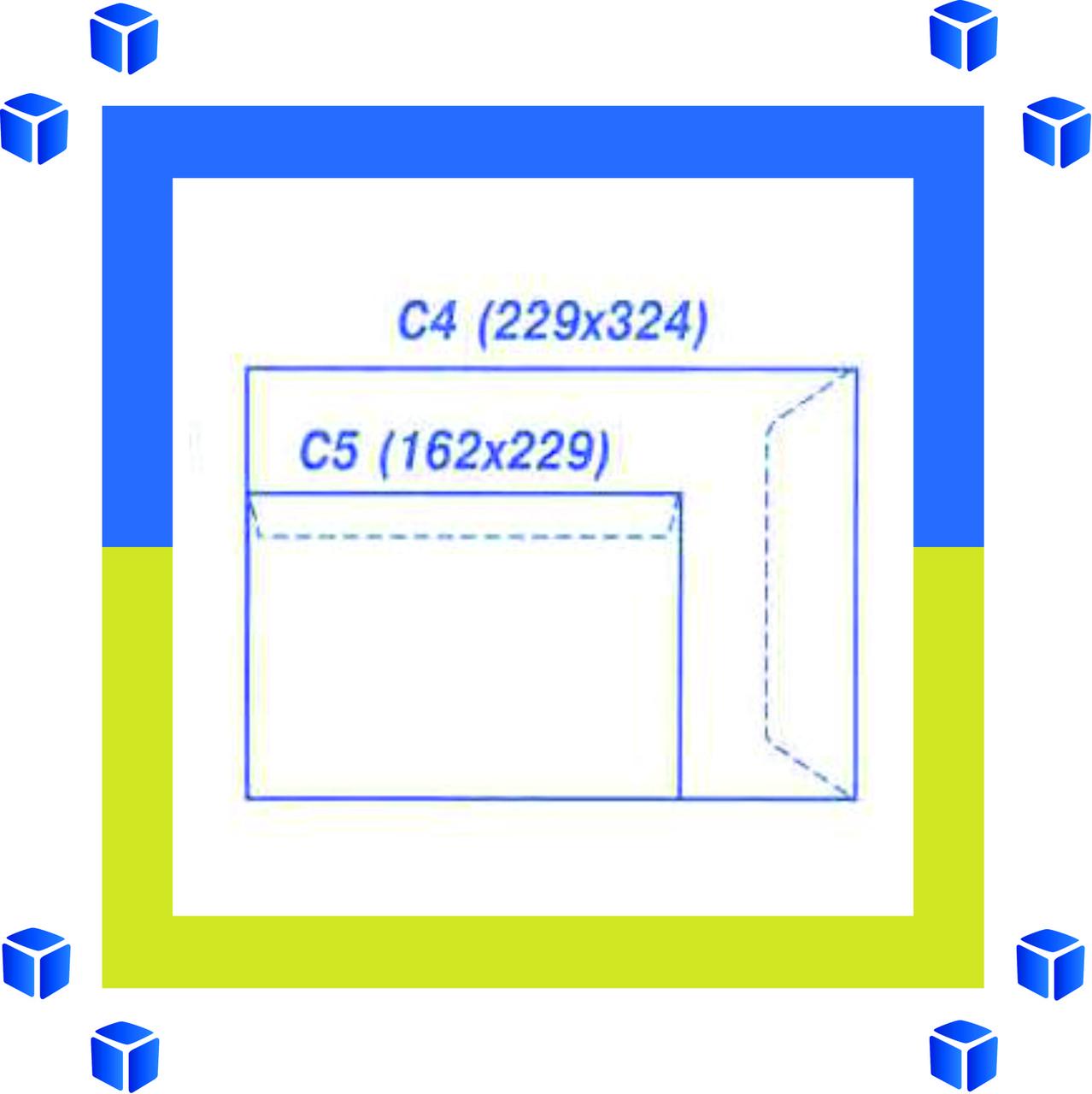 Конверты С4 (324х229) скл, бел. (0+0)