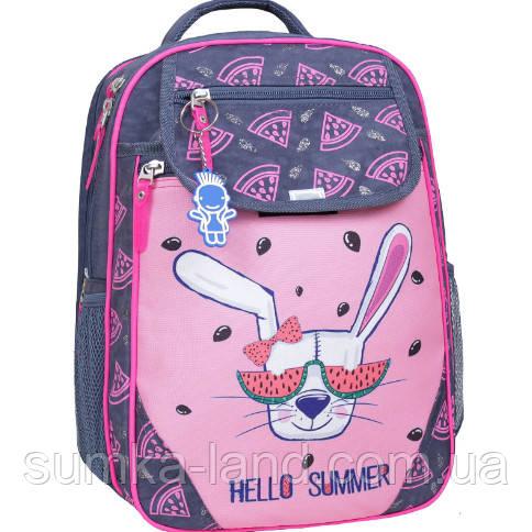 5e7a31494aa4 Детский школьный рюкзак для девочки Bagland Отличник с ортопедической  спинкой (принт серый 204 к)