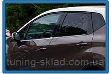 Хром окантовка окон Renault Captur 2013+  (Рено Каптур)