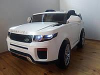 Детский электромобиль Джип КХ877 Range Rover Premium, два мотора, Амортизаторы, дитячий електромобіль белый