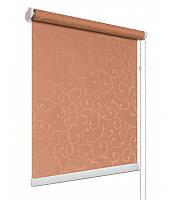 Рулонные шторы на окна ткань Акант 1827 коричневый цвет