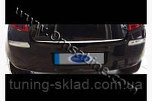 Хром кромка багажника Renault Clio 2006-2009  (Рено Клио)