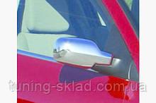 Хром накладки на зеркала (пласт) Renault Clio 2006-2009  (Рено Клио)