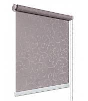 Рулонные шторы на окна ткань Акант 2267 серый цвет