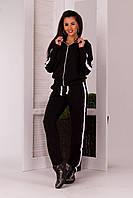 Спортивный стильный женский костюм с капюшоном