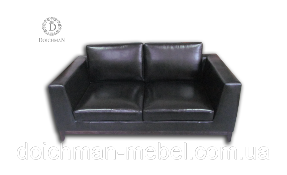 Диван кожаный черный и кресла из кожи